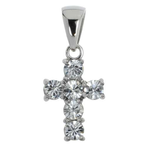Pendente Acciaio inox Cristallo Croce