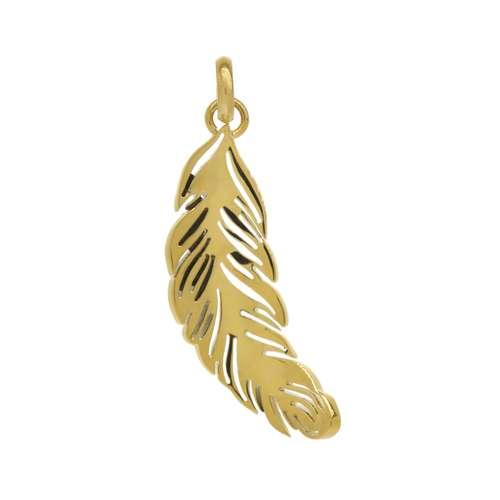 Edelstahl-Anhänger Edelstahl Gold-Beschichtung (vergoldet) Feder
