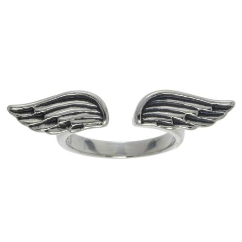 Fingerring Edelstahl Flügel