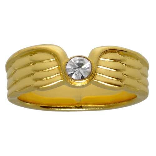 Edelstahlring Edelstahl PVD Beschichtung (goldfarbig) Flügel