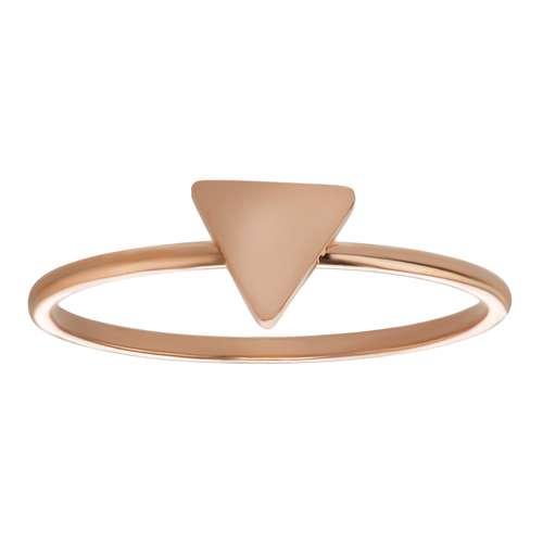 Bague de doigt Acier inoxydable Revêtement PVD (couleur or) Triangle