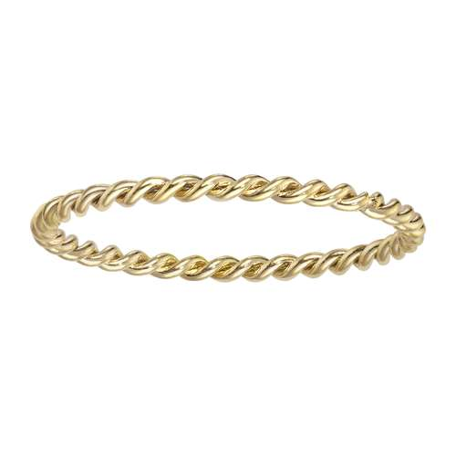 Fingerring Edelstahl PVD Beschichtung (goldfarbig) Ewig Schlaufe Endlos Spirale