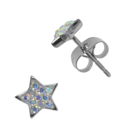 Ohrringe Chirurgenstahl 316L Chirurgenstahl 316L Kristall Stern