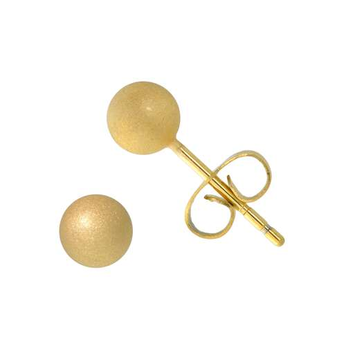 Ohrstecker Chirurgenstahl 316L PVD Beschichtung (goldfarbig)