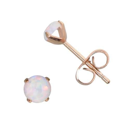 Ohrstecker Edelstahl PVD Beschichtung (goldfarbig) Synthetische Perle