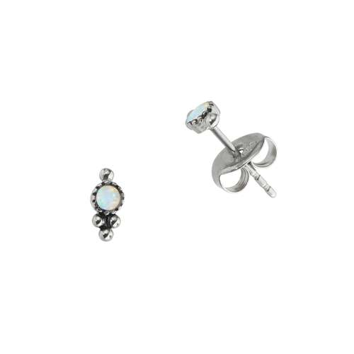 Earrings Stainless Steel Synthetic opal