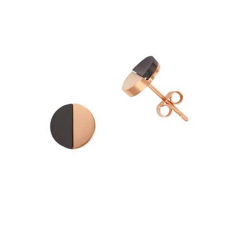Ohrstecker Edelstahl PVD Beschichtung (goldfarbig) Acrylglas