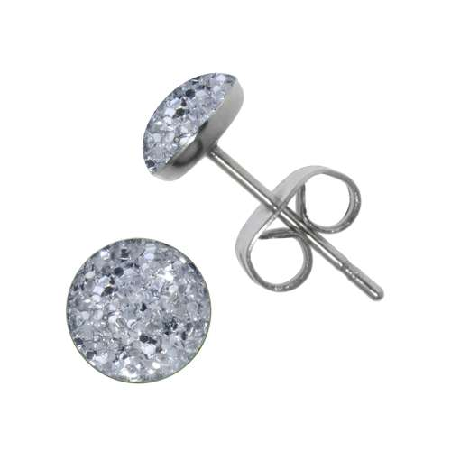 Earrings Stainless Steel Surgical Steel 316L Epoxy