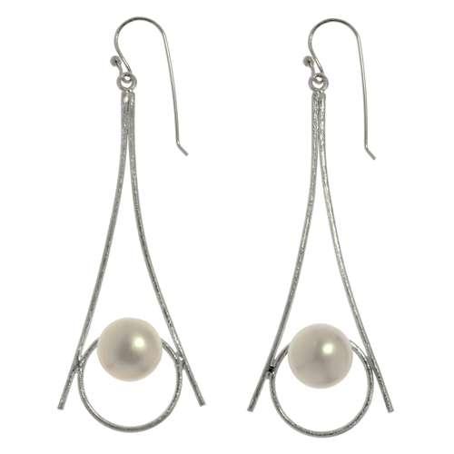 Ohrringe Silber 925 Süsswasserperle