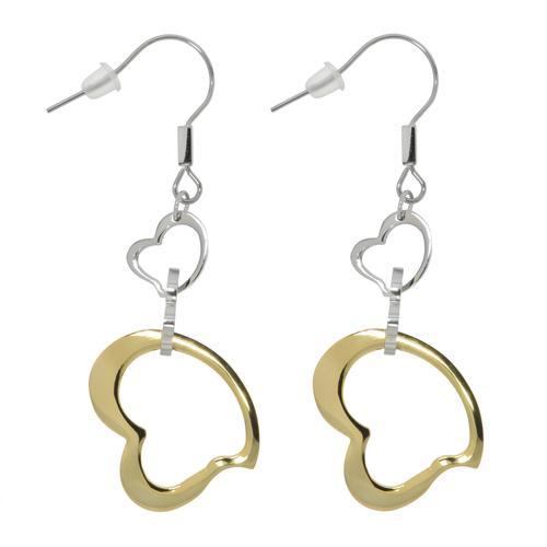 Ohrhänger Chirurgenstahl 316L Gold-Beschichtung (vergoldet) Herz Liebe