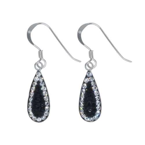 Ohrhänger Silber 925 Kristall Tropfen Tropfenform Wassertropfen