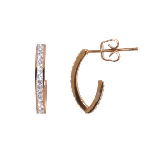 Ohrringe Chirurgenstahl 316L Kristall Gold-Beschichtung (vergoldet)