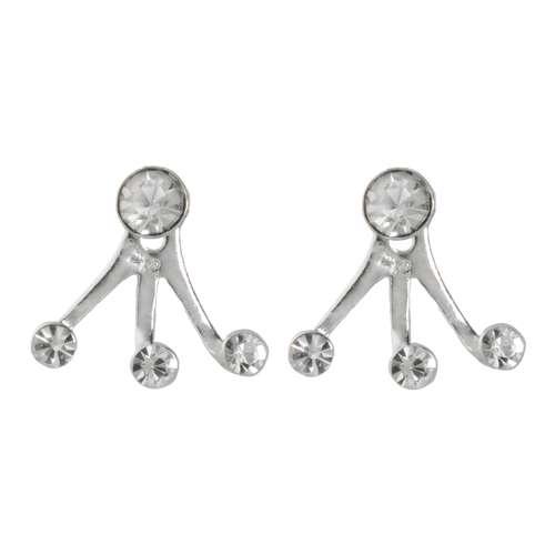 Ohrstecker Silber 925 Silber 925 Kristall