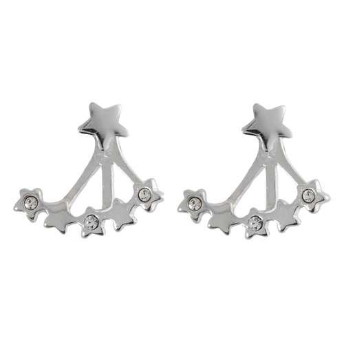 Ohrstecker Silber 925 Kristall Stern