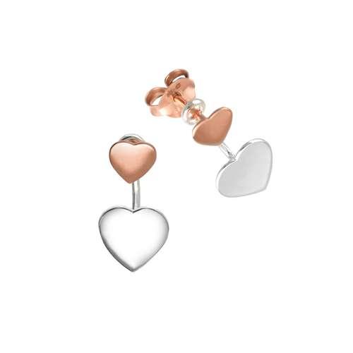 Ohrstecker Silber 925 Gold-Beschichtung (vergoldet) Herz Liebe