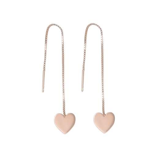 Ohrhänger Silber 925 Gold-Beschichtung (vergoldet) Herz Liebe