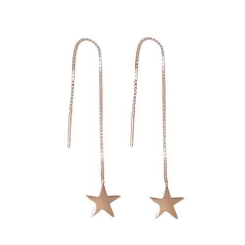 Ohrhänger Silber 925 Gold-Beschichtung (vergoldet) Stern