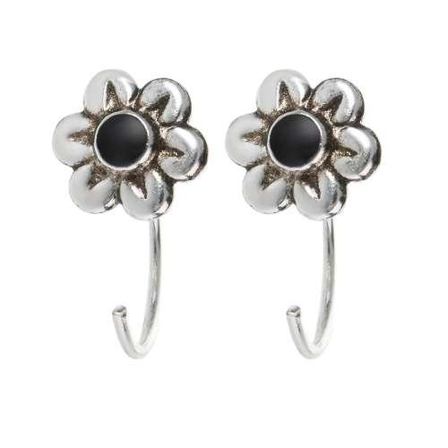 Ohrhänger Silber 925 Epoxiharz Blume