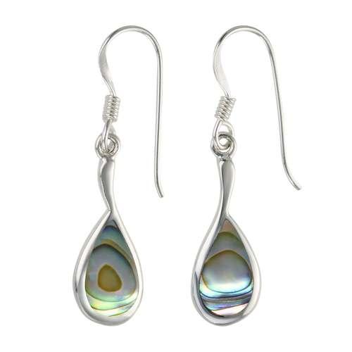 Ohrhänger Silber 925 Abalone Tropfen Tropfenform Wassertropfen