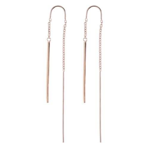 Ohrhänger Edelstahl PVD Beschichtung (goldfarbig) Streifen Rillen Linien