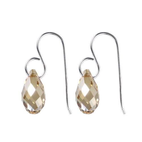 Ohrhänger Silber 925 Swarovski Kristall Tropfen Tropfenform Wassertropfen