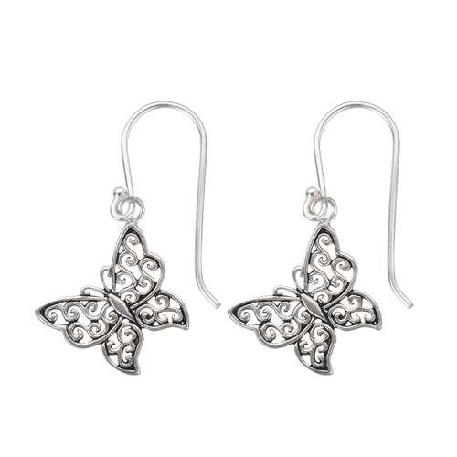 Kinder Ohrringe Silber 925 Schmetterling Sommervogel