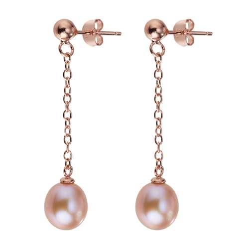 Orecchini Argento 925 Rivestimento PVD (colore oro) Perle di acqua dolce