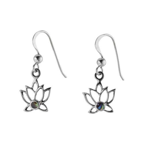 Ohrhänger Silber 925 Abalone Blume