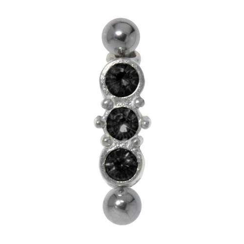 Augenbrauenpiercing Chirurgenstahl 316L Silber 925 Kristall