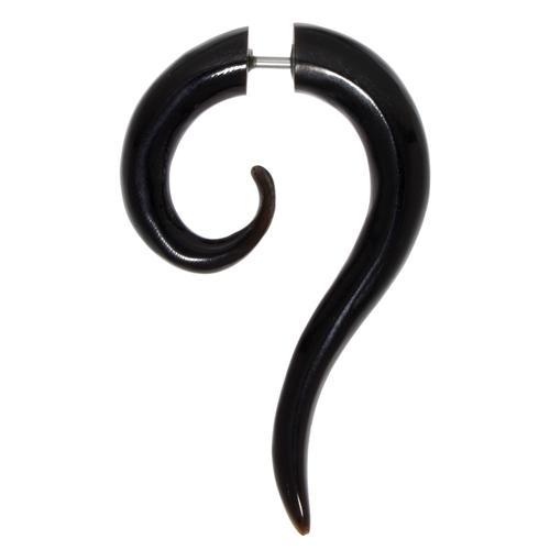 Fake-Plug Chirurgenstahl 316L Buffalo Horn Spirale
