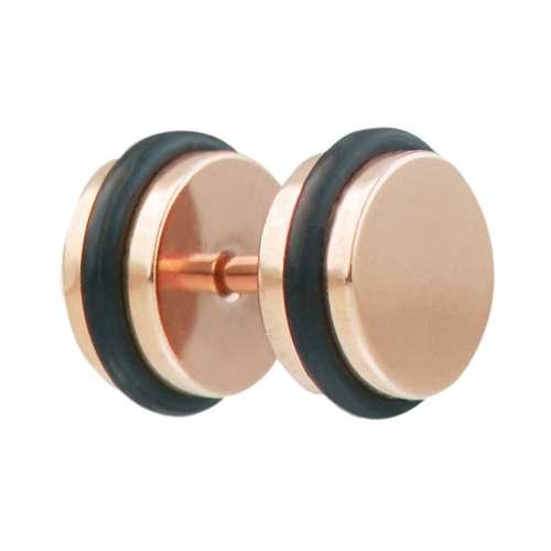 Fake-Plug Chirurgenstahl 316L PVD Beschichtung (goldfarbig) PVD Beschichtung (schwarz)