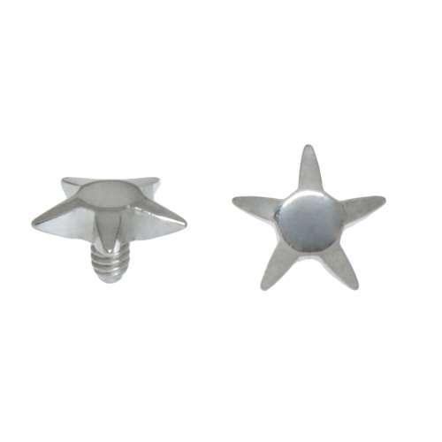 Dermal-Anchor Aufsatz Chirurgenstahl 316L Stern