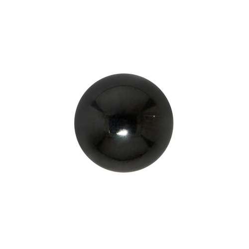 Piercingverschluss Chirurgenstahl 316L PVD Beschichtung (schwarz)