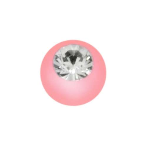 Piercingverschluss Acrylglas Kristall