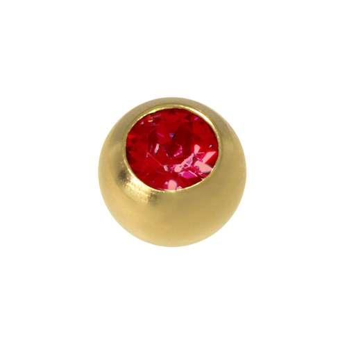 Piercingverschluss Chirurgenstahl 316L Gold-Beschichtung (vergoldet) Kristall