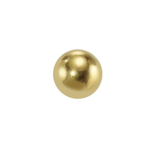 Embout de piercing Acier chirurgical 316L Revêtement d´or (doré)