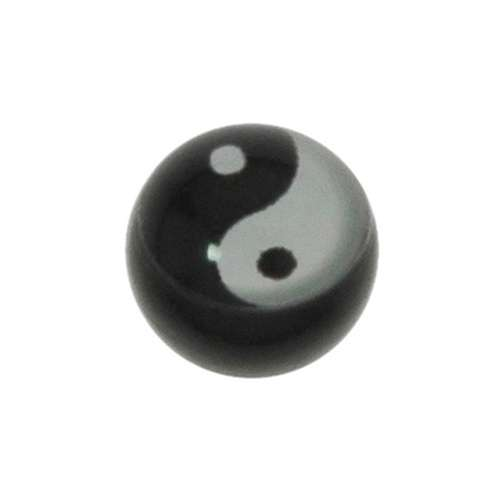 Piercingverschluss Acrylglas Epoxiharz Yin_Yang