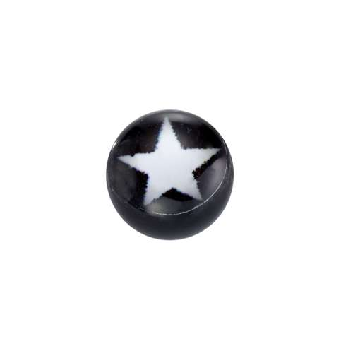 Piercingverschluss Acrylglas Epoxiharz Stern