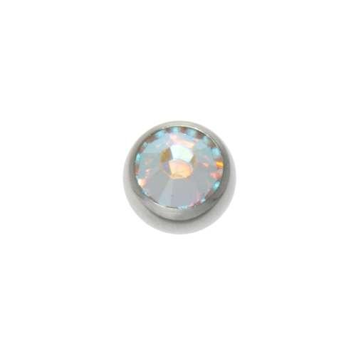 Piercingverschluss Chirurgenstahl 316L Swarovski Kristall