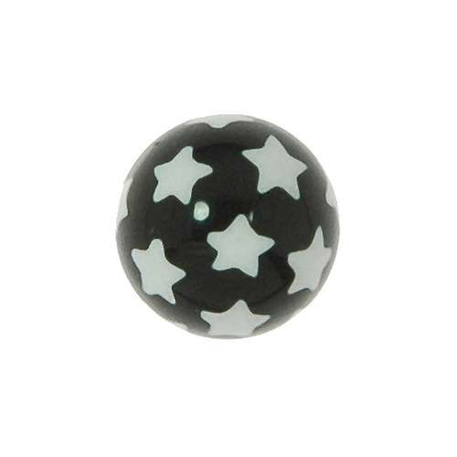 Piercingverschluss Acrylglas Stern