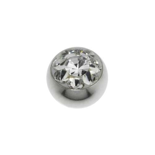 Cierre de piercing Acero quirúrgico cristales de Swarovski Flor