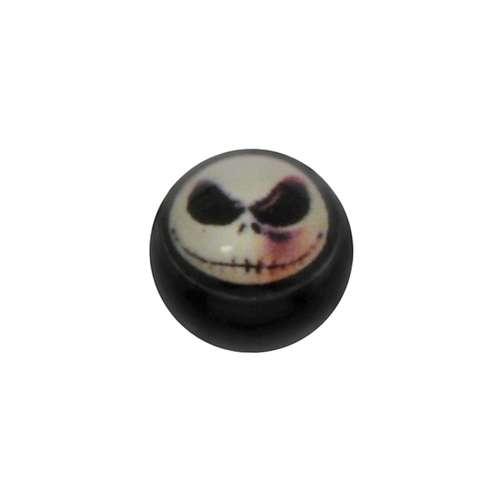 Piercingverschluss Acrylglas Epoxiharz Totenkopf Schädel Knochen