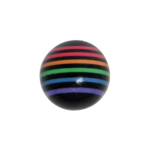 Piercingverschluss Acrylglas Streifen Rillen Linien