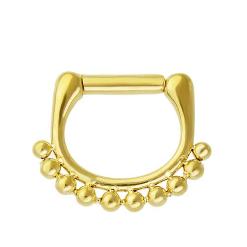 Piercing per naso Metallo chirurgico 316L Rivestimento PVD (colore oro)