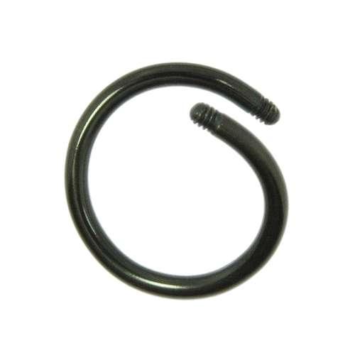 Piercingstab Chirurgenstahl 316L PVD Beschichtung (schwarz)