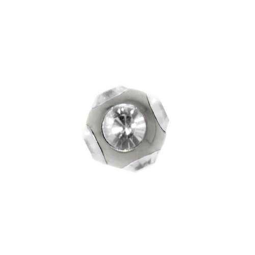 1.2mm Piercing-Kugel Chirurgenstahl 316L Kristall