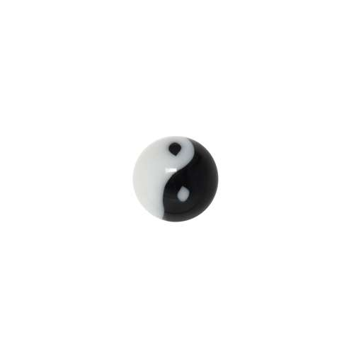 1.2mm Piercing-Kugel Acrylglas Yin_Yang