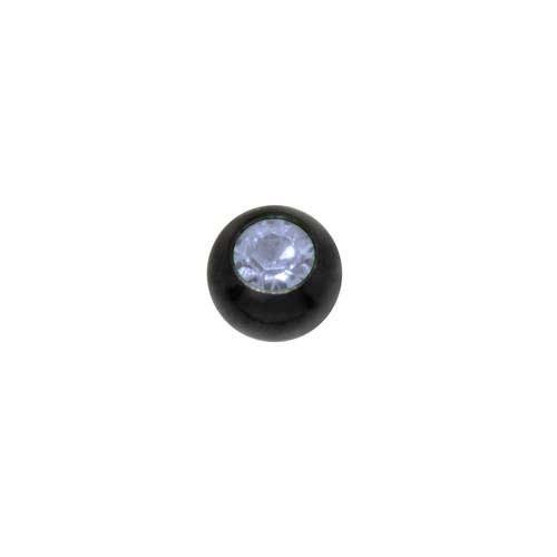 Piercing Cristal Acero quirúrgico Revestimiento PVD (negro)