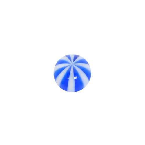 1.2mm Piercing-Kugel Acrylglas Streifen Rillen Linien