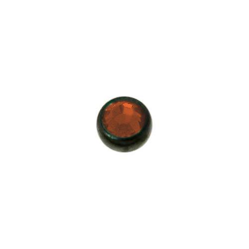 1.2mm Piercing-Kugel aus Chirurgenstahl 316L mit Swarovski Kristall und PVD Beschichtung (schwarz). Gewinde:1,2mm. Durchmesser:2,5mm. Gewicht:0,04g. Swarovski Kristall Chirurgenstahl 316L PVD Beschichtung (schwarz)